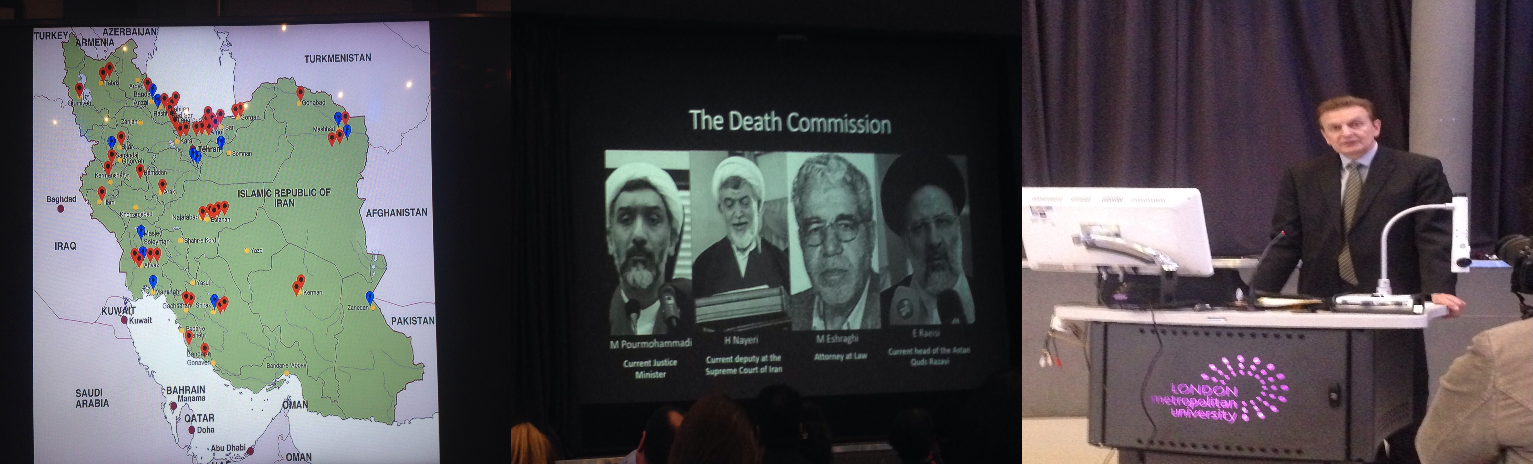 "Photo of ""Forced into unbeing"" conference in London to uncover mass graves perpetrated by the current Iranian regime"
