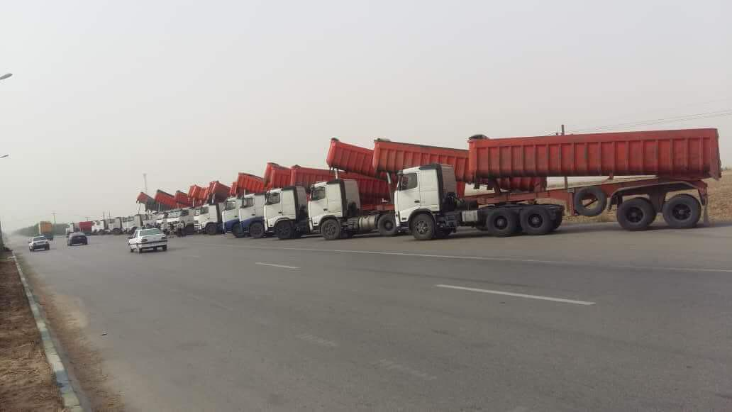 Photo of Truck Drivers and Heavy-Duty Vehicles Protest