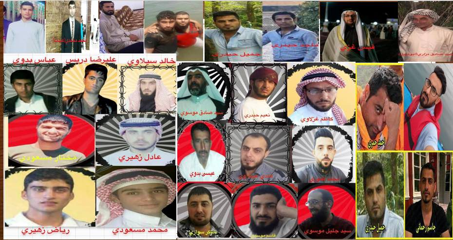 Photo of 13 Ahwazi political prisoners, including 3 women are at risk of execution