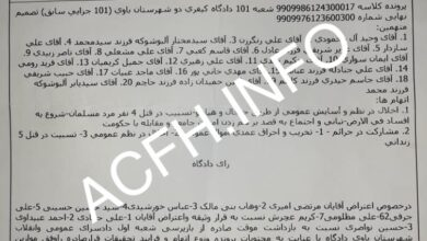 Photo of Hefty charges against Ahwazi protested prisoners in Sheyban Prison